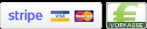 Kreditkarte und Banküberweisung