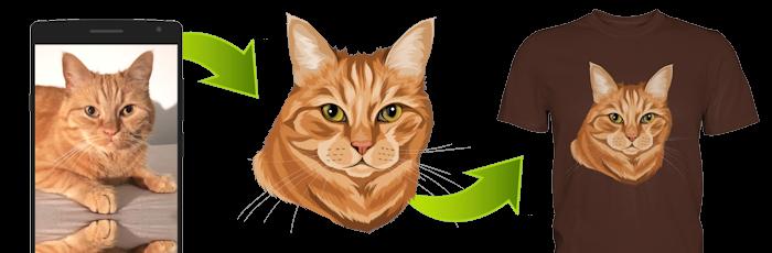 T-Shirt mit Katze