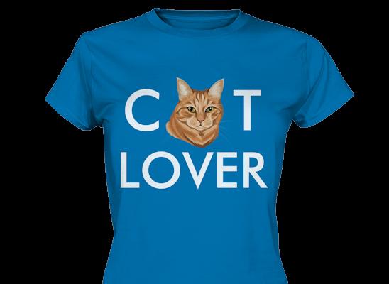 """""""Cat Lover"""" Design mit deiner Katze personalisiert"""