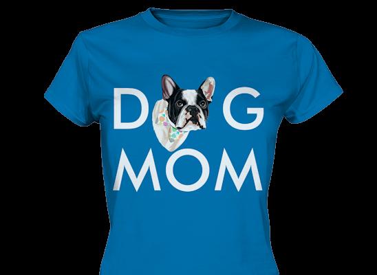 """""""Dog Mom"""" Design mit deinem Hund personalisiert"""