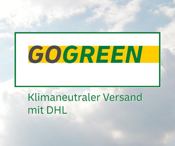 Unsere Textilien werden nicht nur in Deutschland bedruckt um kurze Lieferstrecken zu haben, sondern auch Klimaneutral mit DHL GOGREEN versendet. Dabei werden bei Klimaschutzprojekte für einen Ausgleich gesorgt.