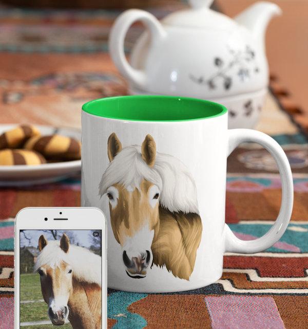 Pferd auf Tasse