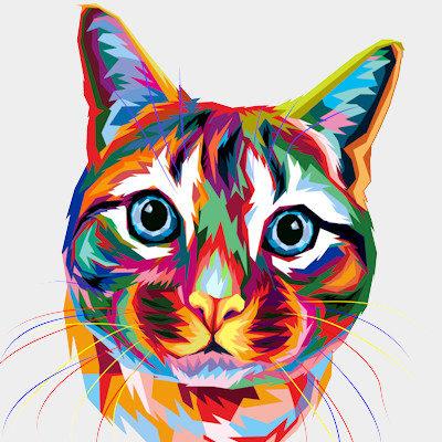 Katzen Pop Art
