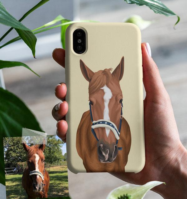 Pferd auf Handyhuelle