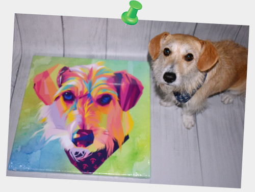 Pepper already has his personalized pop art canvas 😍