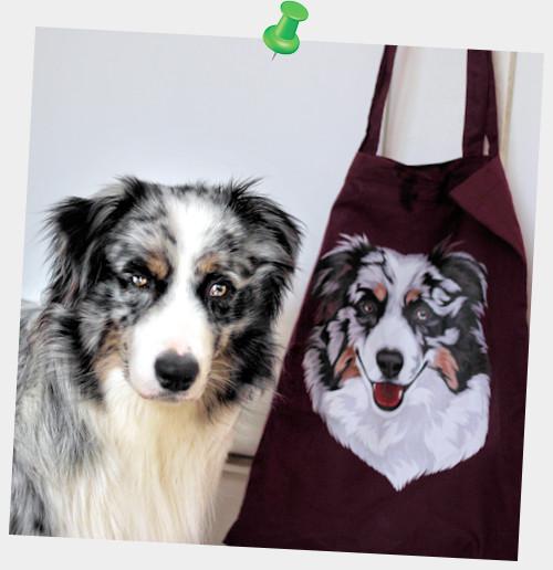 Lil Moriarty ist stolz auf Frauchens Tasche von Print Pets 😍