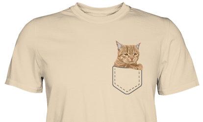 Pocket Shirt - Dein Haustier in der Brusttasche gezeichnet