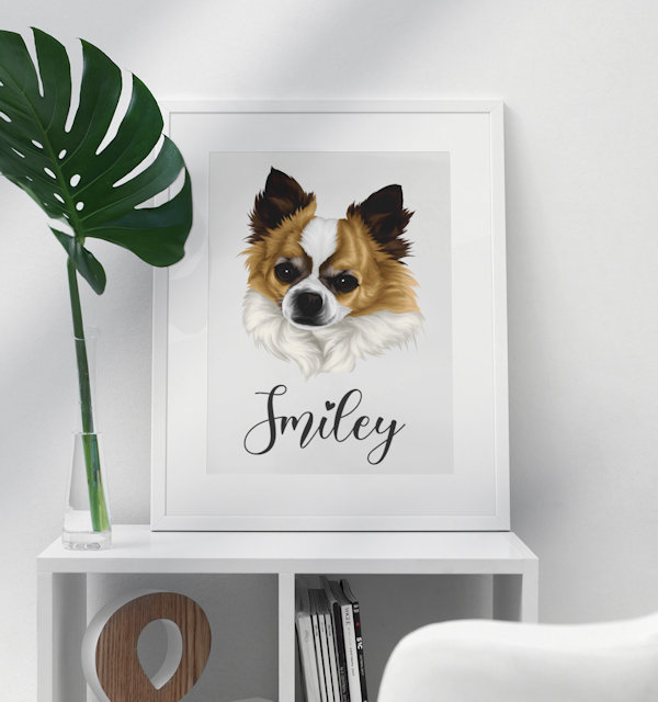 Hund auf Poster