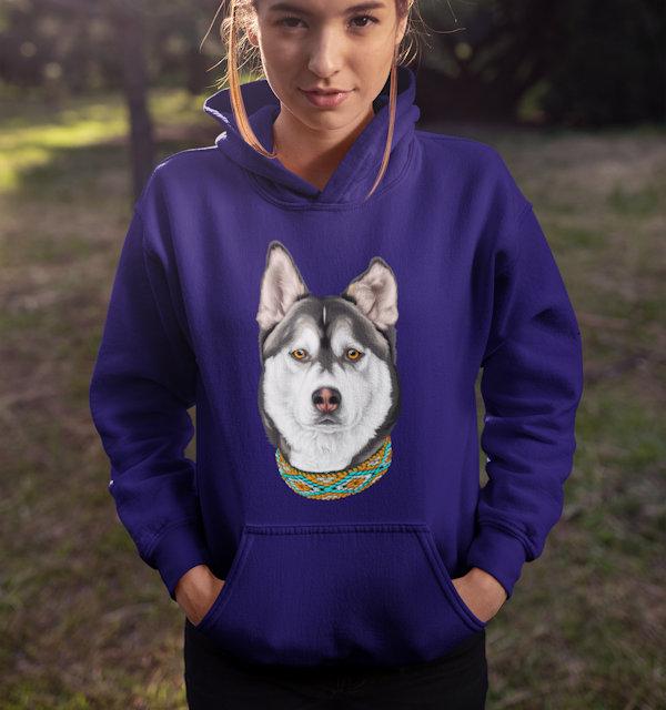Hund auf Pullover