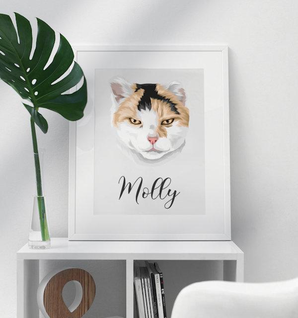 Katze auf Poster