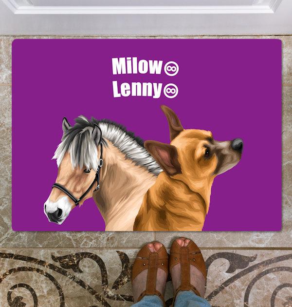Pferd auf Fußmatte