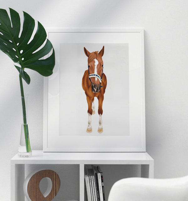 Pferd auf Poster