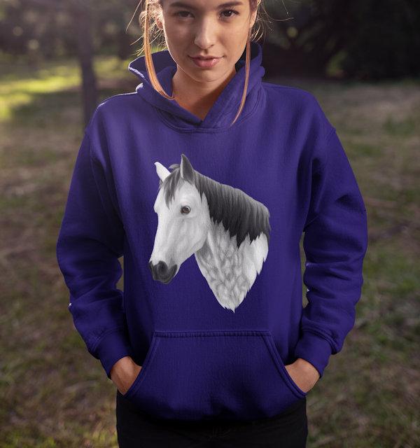Pferd auf Pullover